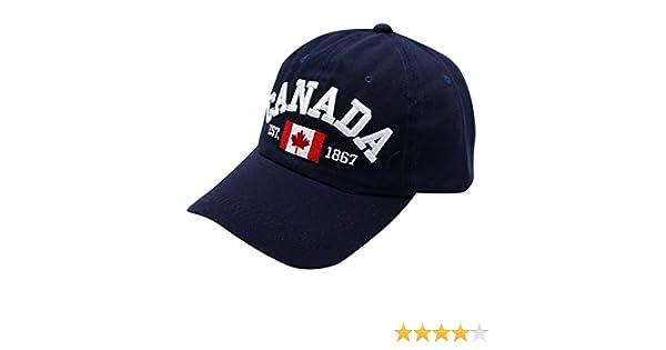 squarex  Femmes Homme Brod/é Fleur Denim Cap Mode Baseball Casquette,Canada Feuille d/érable Drapeau National en Trois Dimensions Chapeau de Soleil
