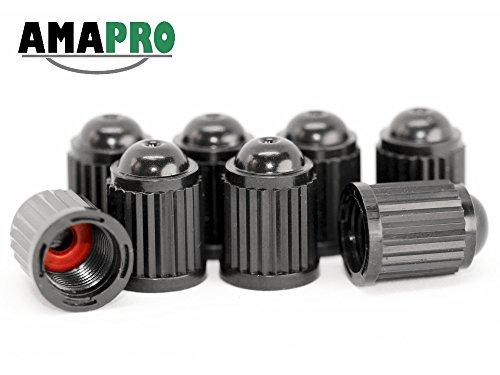 AMAPRO 8x Ventilkappen für Auto, Motorrad und Fahrrad mit Dichtungsring   Ventildeckel   Autoventilkappen aus ABS - Kunststoff