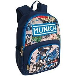 Munich 450805 Graffiti Mochila tipo casual, 43 cm, 20 litros, Azul Marino