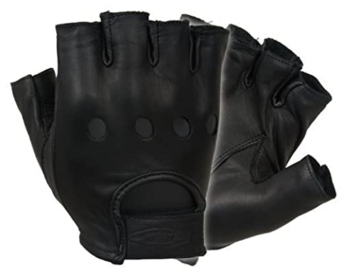 Damascus D22S Leather Driving Gloves Half-Finger Unlined, Medium by Damascus Protective Gear