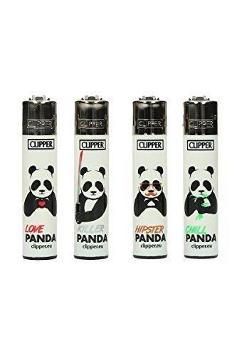 Clipper Classic Pandas 5 Stück Feuerzeug verschiedene Motive