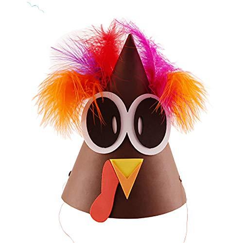 ZOE Turkey Hat Thanksgiving Türkei-Kostüm Thanksgiving Halloween Kostüm Accessoire-Geschenk DIY Für 3 Taschen,A