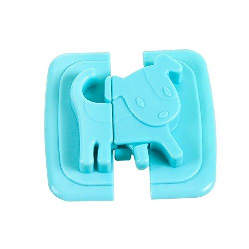 Fjiujin,Kreative Baby Kabinett Verschluss Gürtel Kinder Sicherheitsschloss Baby Taste Kühlschrank Toilette Kleiderschrank Sicherheitsschloss Taste(color:BLAU)