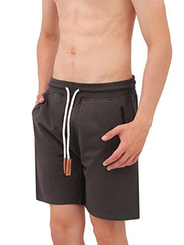 Mount Swiss Herren MS Short, Liam, Anthracite, Gr. L/Kurze Hose/Jogginghose / Sweatpants aus 100% Baumwolle - 4