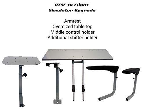 GTR Simulator-Gtsf Racing Model to Flight Simulator laptop-ulteriore supporto cambio, braccioli, oversize da tavolo, medio Control Holder. Simulatore non è incluso.