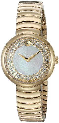 Movado Women's Swiss Quartz and Stainless-Steel Casual Watch, Color:Gold-Toned (Model: 0607045)