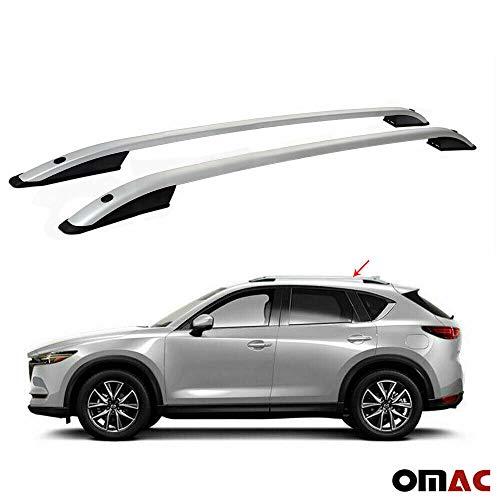 OMAC GmbH Aluminium Dachreling für CX-5 ab 2017 Relingträger Gepäckträger Grau Fahrzeugspezifisch