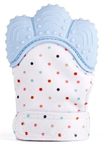 Prime Angebote! Baby Mitt Zahnen Handschuh selbstberuhigende Schmerzlinderung Handschuh Handschuh Kauen BPA frei Silikon Handschuh Zähne Einstufung Spielzeug Munch Fäustling Baby Beißring Spielzeug (Eisblau) (Baby-schnelle Schmerzlinderung Zahnen)
