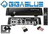 GigaBlue HD X2 Linux Full HD HEVC H.265 IPTV Receiver ohne Tuner inkl. 150Mbit WLAN Stick Mini
