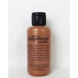 Philosophy Spiced Gingerbread Cookie Shampoo, Shower Gel & Bubble Bath 120ml 4oz