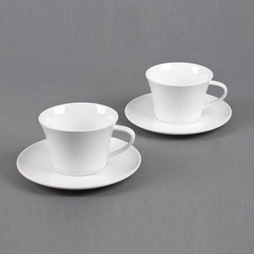 TABLE PASSION - COFFRET 2 TASSES + SOUS TASSES MAXI DEJEUNE 55CL CLASSICA