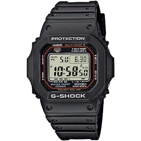 Casio G-SHOCK GW-M5610-1ER: Reloj radiocontrolado de caballero, correa de goma