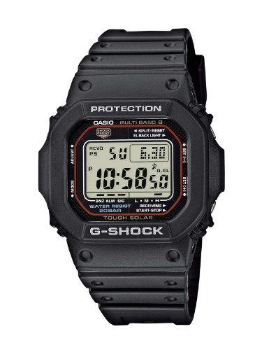 Casio G-Shock Herren-Armbanduhr Funk-Solar-Kollektion Digital Quarz GW-M5610-1ER - Casio-digital-solar-uhr