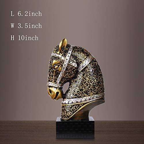 Resina scultorea,figurina di disegno di animali decorazione di mestieri del cavallo scultura della testa del cavallo del arredamento casa reception ornamenti-mestieri 10pollice