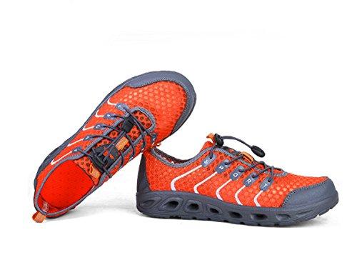 Scarpe da corsa Scarpette da jogging da corsa in gomma traspiranti in tessuto da uomo Novità Sneaker traspirante Scarpe piatte sportive leggere piatte Orange