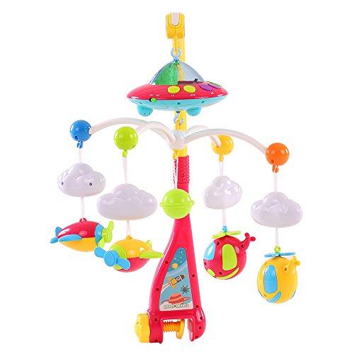 Goolsky Baby Bett Bell Musik-Mobile Krippe Dreamful Bett Ring hängend Drehen Klingelrassel Intelligenz pädagogisches Spielzeug