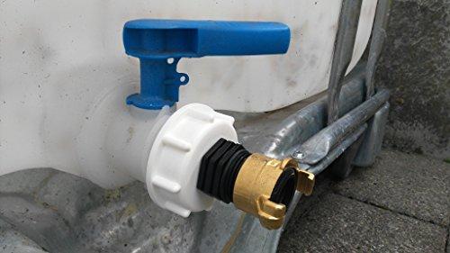 CMTech GmbH Montagetechnik ams19 6 W135100 Bec Adaptateur avec raccord laiton Geka - Lave-vaisselle, IBC Adaptateur Mamelon - Réservoir d'eau de pluie Bidon de Accessoires de conteneurs