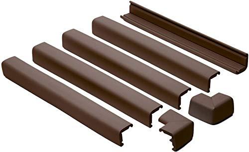Prince Lionheart protection de cheminée avec deux coins, brun chocolat Couleur : Marron chocolat
