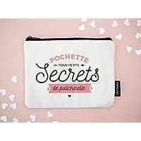 Pochette – Petits secrets | Pochette pour petits secrets de polichinelle | 100% coton, trousse coton, pochette, pochette coton, trousse de toilette, 20x15cm
