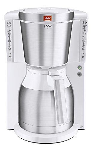 Melitta Look Therm DeLuxe 1011-13, Filterkaffeemaschine mit Thermkanne, AromaSelector, Weiß