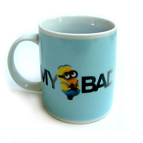 "Minions – Taza ""My Bad"" de 320 ml, color azul"