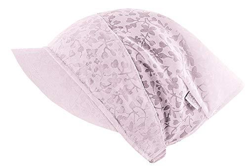 Sommer Mütze Schirmmütze Mädchen Baumwolle (51 cm = L - 50/52 cm Kopfumfang, Rosa) ()