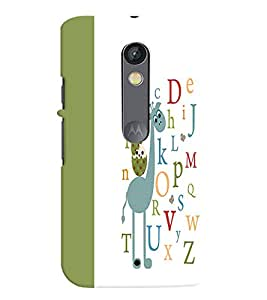 printtech Alphabets Back Case Cover for Motorola Moto X Play Dual SIM