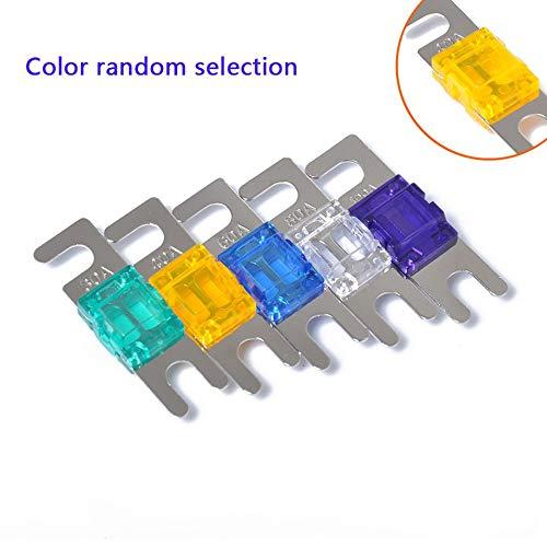 ARDUTE 5 Teile/Satz 30A / 40A / 60A / 80A / 100A Mini ANL Bolzen Gabel Sicherung Kit Car Audio Schutzschalter (30 Car-audio Amp Sicherung)