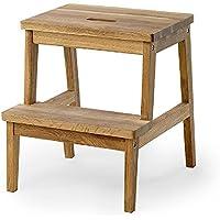 XF@ Escalera Taburete Cocina de madera maciza Fácil de usar Doméstico Niño Adulto Taburetes, Biblioteca Escalera de peldaños