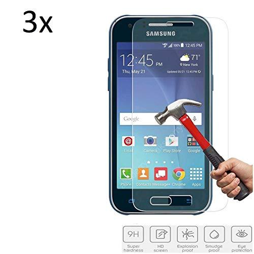 Cardana | 3X bruchsicheres Panzerglas für Samsung Galaxy J1 (2015, 2016) | Schutzfolie aus 9H Echt Glas