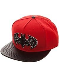 DC Comics Batman Harley Quinn Carbon Fiber Logo Snapback Baseball Cap