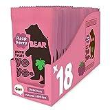 Bear Yoyo 100 Percent Fruit Rolls Raspberry 20 g (Pack of 18)