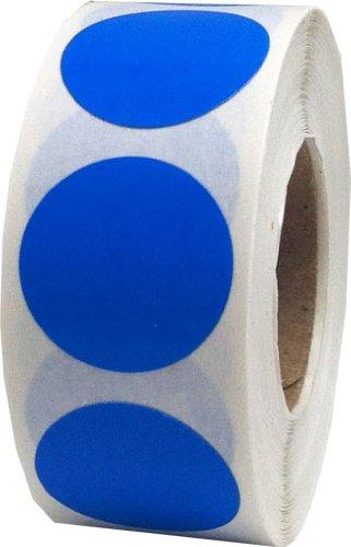 Azul Circulo Punto Pegatinas, 19 mm 3/4 Pulgada Redondo, 500 Etiquetas en un Rollo