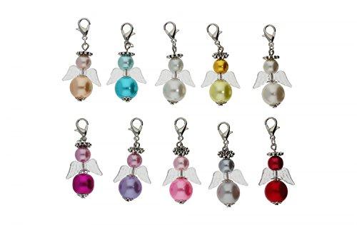 DIY Set für 10 Perlenengel Schutzengel in verschiedenen Farben / Hochzeit Konfirmation Geburtstag Weihnacht Taufe Kommunion Geschenk Gastgeschenk EAS3