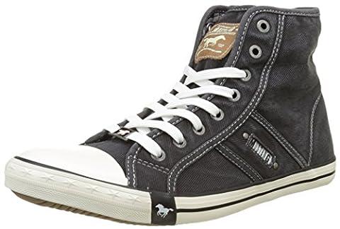 Mustang 4058-504, Herren Hohe Sneakers, Schwarz (9 schwarz), 44 EU (9.5 Herren UK)