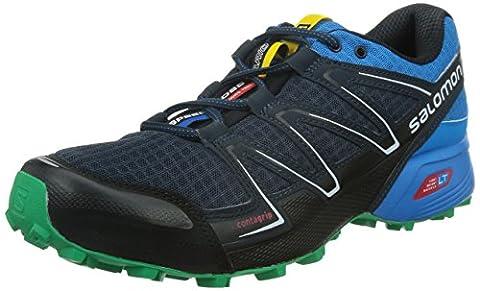 Salomon Speedcross Vario, Chaussures de trail homme, Noir - Schwarz (Deep Blue/Methyl Blue/Real Green), 42