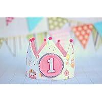 Corona princesa, corona de tela para cumpleaños niña, adorno de pelo niña