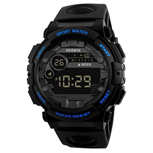 A-Artist Herren Digital Sport Uhren - Outdoor Wasserdichte Armbanduhr mit Wecker Chronograph und Countdown Uhr, LED Licht Gummi Schwarz große Anzeige Digitaluhren für Herren