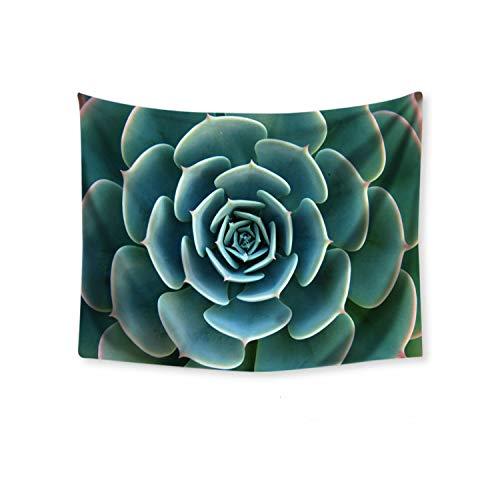 Lou Chapman Böhmen Tapestry Green Cactus Succulents Landschaft Makramee Wandbehang Tapisserie Picknick-Decke Wohnzimmer-Wand-Tuch, C, 70x100cm (Thin)