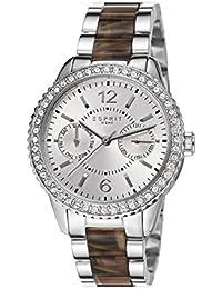 Esprit Damen-Armbanduhr Marin Tortoise Analog Quarz ES106752001