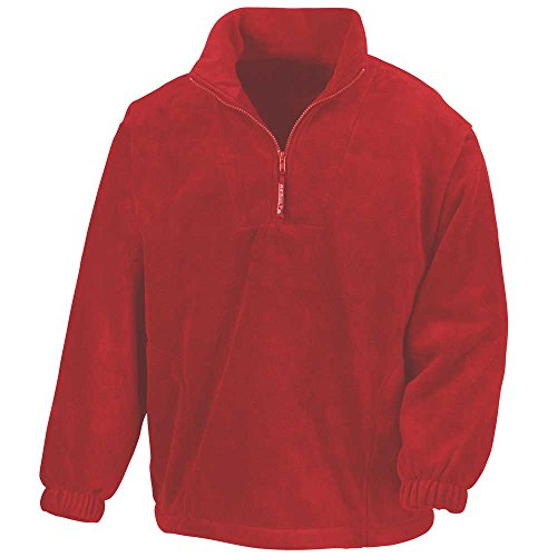Result Mens Active Half Zip Fleece Jackets red