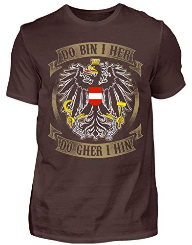 Österreich-Do Bin i her - Herren Shirt -L-Braun
