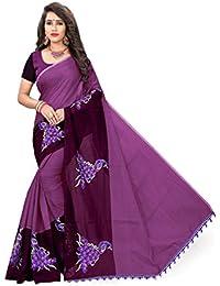 Indian Fashionista Women's Chanderi Cotton Saree with Blouse Piece, Free Size (Pink, Mhvr290-1798)