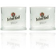 2er Set Original Berliner Kindl Weisse Klauenglas 0,3L