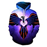 3D Print Bunte Adler Sweatshirts Hoodie lustige Pullover Trainingsanzüge Jacke Eagle Hoodies XXL