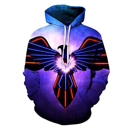 3D Print Bunte Adler Sweatshirts Hoodie lustige Pullover Trainingsanzüge Jacke Eagle Hoodies L