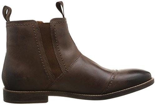 Clarks Novato, Stivali bassi con cerniera Uomo Marrone (Braun (Brown Leather))