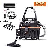 Aspirapolvere a secco umido, TACKLIFE 1200W Pulitore a secco umido senza sacco, 3 in 1 funzione, senza spazzola per tappeti, adatto per la casa e l'auto, PVC01B