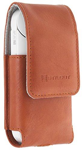 StilGut StilGut Zigarettenetui, case kompatibel mit IQOS. Tasche für elektronischen Zigaretten-Set, Cognac