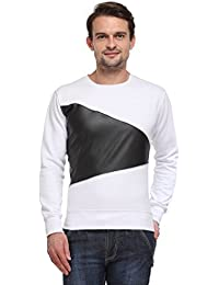 Wear Your Mind White Poly Cotton Round-Neck Printed Sweatshirt For Men SW169.2